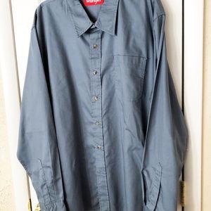 Wrangler shirt mens new size 2XL cotton polyester